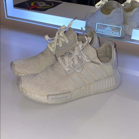 adidas Shoes | Nmd R1 White Reflective